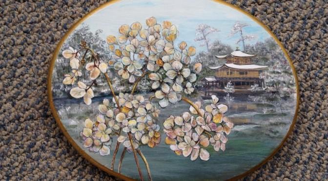 Hydrangeas in Winter Plaque