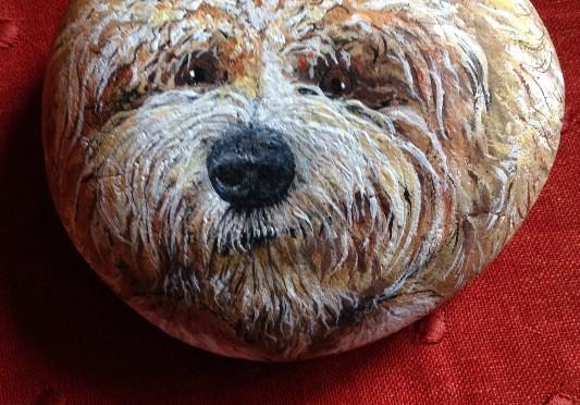 Havanese Dog Stone