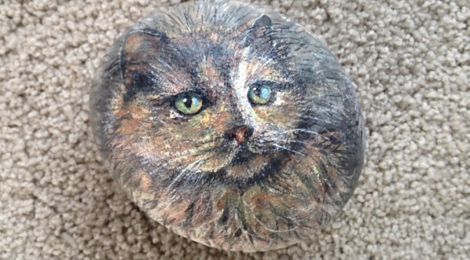 Cats Portraits on Stone