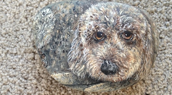 Dog Portraits on Stone