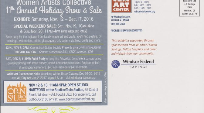 I am in two Art Shows in November 2016