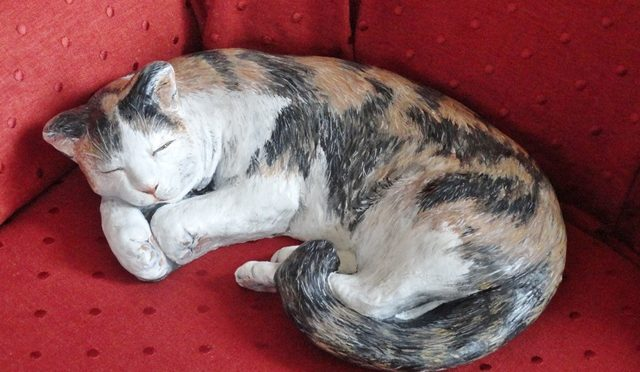 Painted Garden Ornament Cat
