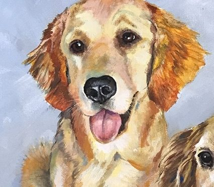 Portrait of Three dogs